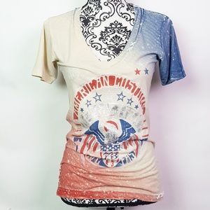 AFFLICTION Distressed Graphic Tee